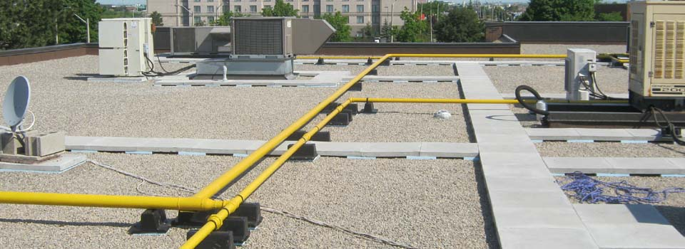 dry roof with proper drainage